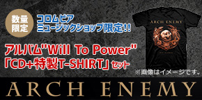 ARCH ENEMY「WILL TO POWER」Tシャツセット